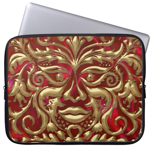 3dMetalic-GreenMan-laptopsleeve
