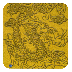 EmbossedDragon-yellow