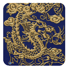MetalicDragon-royalblue-gold